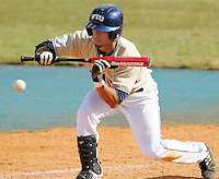 2 March 2008: Florida International infielder Ryan Mollica (7) attempts to bunt in the bottom of the eighth inning of the FIU 8-3 victory over Wagner  at University Park Stadium in Miami, Florida.