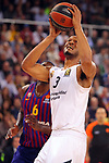Turkish Airlines Euroleague 2018/2019. <br /> Regular Season-Round 24.<br /> FC Barcelona Lassa vs R. Madrid: 77-70. <br /> Anthony Randolph.