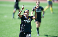 Marta celebrates her goal during the FC Gold's victory over the Philadelphia Independence 4-0, to capture the 2010 WPS Championships in Hayward, Calif., Sunday, September 26, 2010.