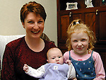 Frances Bagnell with her daughters Leigh and .See Marie Kierans Story.Pic Fran Caffrey Newsfile
