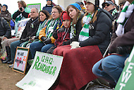 January 26, 2013  (Washington, DC)  Family members of Sandy Hook shooting victims display signs of remembrance as they listen to speakers during the rally for gun control on the National Mall in Washington.  (Photo by Don Baxter/Media Images International)