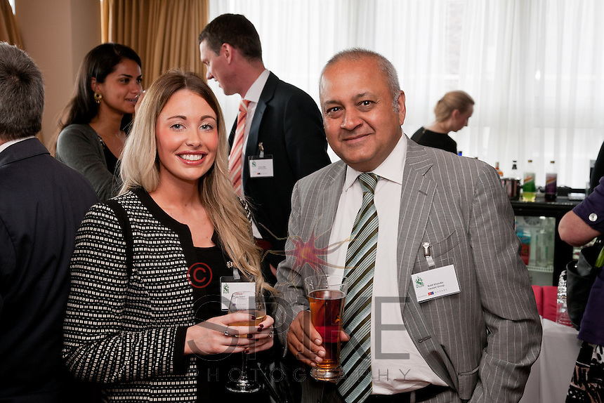 Emily Revill of Calverton Finance is pictured with Rohit Khandia of Versant Group