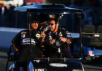 Jul. 26, 2013; Sonoma, CA, USA: NHRA crew members for pro stock driver Vincent Nobile during qualifying for the Sonoma Nationals at Sonoma Raceway. Mandatory Credit: Mark J. Rebilas-