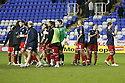 Stevenage players celebrate win.Reading v Stevenage - FA Cup 3rd Round - Madejski Stadium,.Reading - 7th January, 2012.© Kevin Coleman 2012