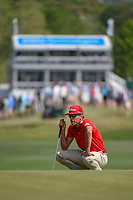 Rafael Cabrera Bello (ESP) lines up his putt on 15 during day 2 of the WGC Dell Match Play, at the Austin Country Club, Austin, Texas, USA. 3/28/2019.<br /> Picture: Golffile | Ken Murray<br /> <br /> <br /> All photo usage must carry mandatory copyright credit (© Golffile | Ken Murray)