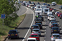 23/05/15<br /> <br /> The M5 near Bristol grinds to a halt as queues of caravans and holiday makers try to make their way south west for the bank holiday weekend and half-term break.<br /> <br /> All Rights Reserved - F Stop Press.  www.fstoppress.com. Tel: +44 (0)1335 418629 +44(0)7765 242650
