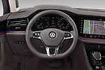 Car pictures of steering wheel view of a 2019 Volkswagen Touareg Business-Atmosphere 5 Door SUV Steering Wheel