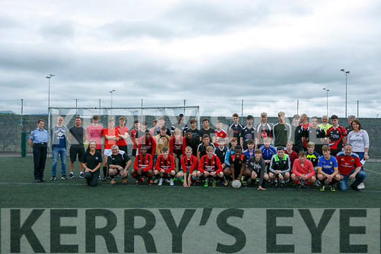 At the Garda Soccer Blitz at Mounthawk Park on Tuesday