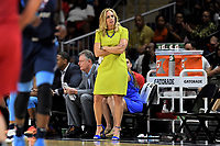 Washington, DC - June 1, 2019: Atlanta Dream head coach Nicki Collen on the sideline during game between Atlanta Dream and Washington Mystics at the St. Elizabeths East Entertainment and Sports Arena (Photo by Phil Peters/Media Images International)
