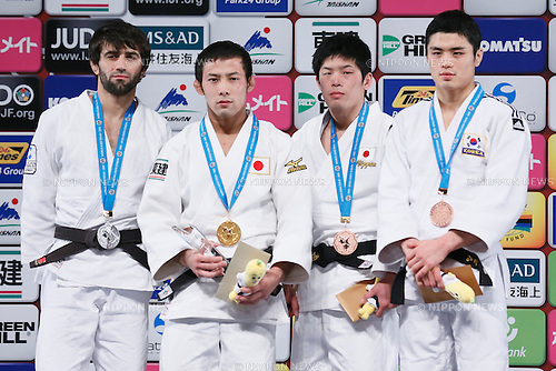 (L-R) Beslan Mudranov (RUS), Naohisa Takato, Toru Shishime (JPN), Kim Won Jin (KOR), DECEMBER 4, 2015 - Judo : IJF Grand Slam Tokyo 2015 International Judo Tournament Men's -60kg Award Ceremony at Tokyo Metropolitan Gymnasium, Tokyo, Japan. (Photo by Sho Tamura/AFLO SPORT)