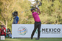 Shubhankar Sharma (IND) watches his tee shot on 18 during round 3 of the World Golf Championships, Mexico, Club De Golf Chapultepec, Mexico City, Mexico. 3/3/2018.<br /> Picture: Golffile | Ken Murray<br /> <br /> <br /> All photo usage must carry mandatory copyright credit (&copy; Golffile | Ken Murray)
