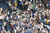 Preston North End fans applaud their sides 2-0 victory at the final whistle<br /> <br /> Photographer Rich Linley/CameraSport<br /> <br /> The EFL Championship - Preston North End v Sheffield Wednesday - Saturday August 24th 2019 - Deepdale Stadium - Preston<br /> <br /> World Copyright © 2019 CameraSport. All rights reserved. 43 Linden Ave. Countesthorpe. Leicester. England. LE8 5PG - Tel: +44 (0) 116 277 4147 - admin@camerasport.com - www.camerasport.com