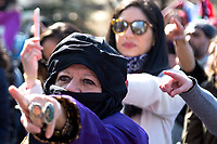 NEW YORK, NEW YORK - MARCH 8: The song was made against the abusers of women who have become global during the women's strike in Washington Sq Park for Women's Day on March 8, 2020. in New York. 3,500 women were killed for gender reasons in 25 countries in Latin America and the Caribbean in 2019. UN said. (Photo by Pablo Monsalve / VIEWpress via Getty Images)