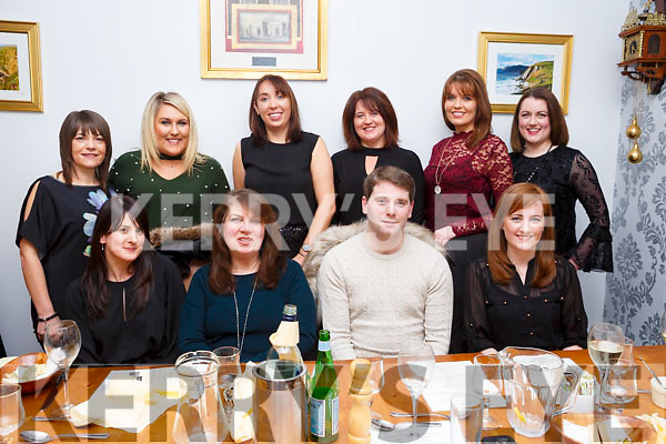 Staff of O&rsquo;Brennan School National School in Kielduff, Ballymac, welcoming their new Principal and celebrate in Bella Bia Restaurant on Friday night last. <br /> Seated l-r, Olga Sheehy, Caroline O&rsquo;Connell, Barry O&rsquo;Leary (Principal) and Marion Costello.<br /> Back l-r, Martina Culloty, Michelle O&rsquo;Brien, Mary Slattery, Regina Mansfield Coggins, Andrea Brosnan and Mary Conway.