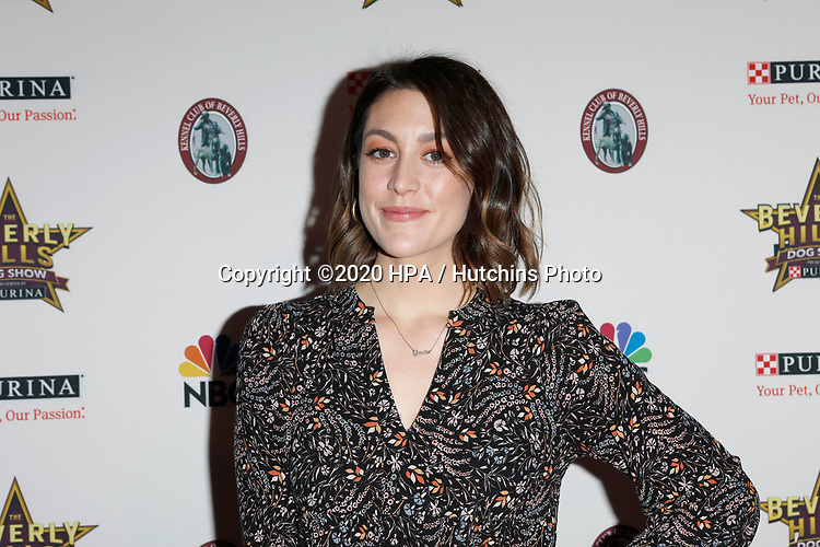 LOS ANGELES - FEB 29:  Caitlin McGee at the Beverly Hills Dog Show Presented by Purina at the LA County Fairplex on February 29, 2020 in Pomona, CA