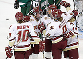 Blake Bolden (BC - 10), Ashley Motherwell (BC - 18), Mary Restuccia (BC - 22), Taylor Wasylk (BC - 9), Emily Pfalzer (BC - 14) - The Boston College Eagles defeated the Dartmouth College Big Green 4-3 on Sunday, October 23, 2011, at Kelley Rink in Conte Forum in Chestnut Hill, Massachusetts.
