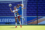 ORLANDO, FL - DECEMBER 03: Anika Rodriguez #7 of UCLA and Tegan McGrady #9 of Stanford University battle for the ball during the Division I Women's Soccer Championship held at Orlando City SC Stadium on December 3, 2017 in Orlando, Florida. Stanford defeated UCLA 3-2 for the national title. (Photo by Jamie Schwaberow/NCAA Photos via Getty Images)