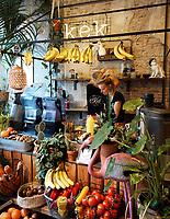 Nederland Delft - Augustus 2018. Vers fruit bij Kek, ontbijt- en brunchrestaurant.  Foto mag niet in negatieve context gepubliceerd worden.   Foto Berlinda van Dam / Hollandse Hoogte