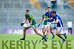 Adam Donoghue Kerry in action against Danny Cusack Cavan in the All Ireland Minor Semi Final in Croke Park on Sunday.