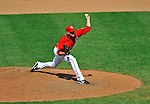 8 June 2008: Washington Nationals' pitcher Charlie Manning on the mound in relief against the San Francisco Giants at Nationals Park in Washington, DC. The Nationals dropped the afternoon matchup to the Giants 6-3 in their third consecutive loss of the 4-game series...Mandatory Photo Credit: Ed Wolfstein Photo