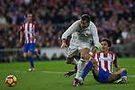 Real Madrid's Cristiano Ronaldo Atletico de Madrid's Tiago Mendes  during the match of La Liga between Atletico de Madrid and Real Madrid at Vicente Calderon Stadium  in Madrid , Spain. November 19, 2016. (ALTERPHOTOS/Rodrigo Jimenez)