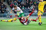 Stockholm 2014-03-04 Fotboll Svenska Cupen Hammarby IF - &Auml;ngelholms FF :  <br /> &Auml;ngelholms m&aring;lvakt Matt Pyzdrowski hindrar Hammarbys Erik Israelsson vid en m&aring;lchans framf&ouml;r m&aring;l<br /> (Foto: Kenta J&ouml;nsson) Nyckelord:  HIF Bajen &Auml;ngelholm