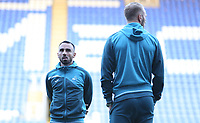 Leon Britton of Swansea City and Mike van der Hoorn take a look around prior to kick off of the Carabao Cup Third Round match between Reading and Swansea City at Madejski Stadium, Reading, England, UK. Tuesday 19 September 2017