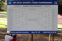 STANFORD, CA - May 14, 2011:  Brackets at Taube Stadium during Stanford's 4-0 win over Illinois-Chicago in the first round of the NCAA Tournament in Stanford, California on May 14, 2011.