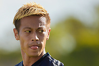 Sydney, November 25, 2018 - Keisuke Honda of the Melbourne Victory in action during the Melbourne Victory and Sydney FC round 5 match at Jubilee Oval in Sydney, Australia.