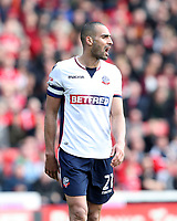 Bolton Wanderers' Darren Pratley<br /> <br /> Photographer Rachel Holborn/CameraSport<br /> <br /> The EFL Sky Bet Championship - Barnsley v Bolton Wanderers - Saturday 14th April 2018 - Oakwell - Barnsley<br /> <br /> World Copyright &copy; 2018 CameraSport. All rights reserved. 43 Linden Ave. Countesthorpe. Leicester. England. LE8 5PG - Tel: +44 (0) 116 277 4147 - admin@camerasport.com - www.camerasport.com