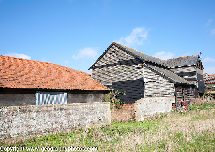 Old barns in Ramsholt, Suffolk, England