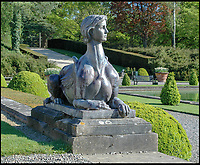 BNPS.co.uk (01202 558833)<br /> Pic: BlenheimPalace/BNPS<br /> <br /> The besotted Duke also had Gladys immortalised on two bronze Sphinxes in the gardens of Blenheim.<br /> <br /> The 'Most beautiful woman in the world' finally return's to Blenheim Palace.<br /> <br /> The treasured painting kept by a Duchess of Blenheim once described as 'the most beautiful woman in the world' through her declining years has finally returned to the Oxfordshire Palace 103 years after it was painted.<br /> <br /> American Gladys Deacon married the 9th Duke of Marlborough in 1921, five years after her portrait was painted in Paris by Italian artist Giovanni Boldini.<br /> <br /> But the marriage became troubled and the Duke finally evicted Gladys from the Palace in the ealy 1930's, she then became an eccentric recluse, before finally ending her days in a psychiatric hospital.<br /> <br /> When evicted Gladys took a few treasured possessions with her, including a statue given her by Rodin, and this glamorous portrait from her stunning younger days.