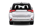 Straight rear view of a 2018 Mitsubishi Outlander PHEV Instyle 5 Door SUV stock images