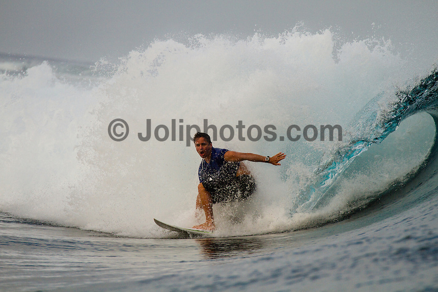 Namotu Island Resort, Fiji. (Wednesday, August 29, 2012) -   Light winds this morning and a very small swell  provided small waves at Cloudbreak, Namotu Lefts and Wilkes today. Photo: joliphotos.com