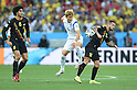 (L-R) Marouane Fellaini (BEL), Son Heung-Min (KOR), Steven Defour (BEL),<br /> JUNE 26, 2014 - Football / Soccer :<br /> FIFA World Cup Brazil 2014 Group H match between South Korea 0-1 Belgium at Arena de Sao Paulo in Sao Paulo, Brazil. (Photo by SONG Seak-In/AFLO)