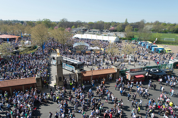 A general view of the Forum outside the stadium. The Clash, Aviva Premiership match, between Bath Rugby and Leicester Tigers on April 8, 2017 at Twickenham Stadium in London, England. Photo by: Patrick Khachfe / Onside Images