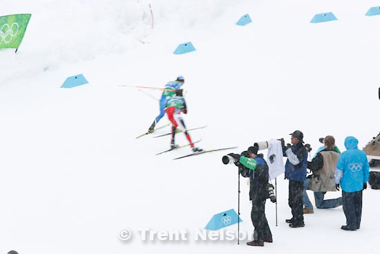 Trent Nelson  |  The Salt Lake Tribune.Team 4x5km Nordic Combined on the cross country track at the Whistler Olympic Park, XXI Olympic Winter Games in Whistler, Tuesday, February 23, 2010. photographers