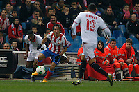 31.01.2013 SPAIN - Copa del Rey 12/13 Matchday 1/4  match played between Atletico de Madrid vs Sevilla Futbol Club (2-1) at Vicente Calderon stadium. The picture show Arda Turan (Turkish midfielder of At. Madrid)