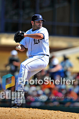 11 March 2009: Detroit Tigers' pitcher Juan Rincon on the mound during a Spring Training game against the New York Yankees at Joker Marchant Stadium in Lakeland, Florida. The Tigers defeated the Yankees 7-4 in the Grapefruit League matchup. Mandatory Photo Credit: Ed Wolfstein Photo