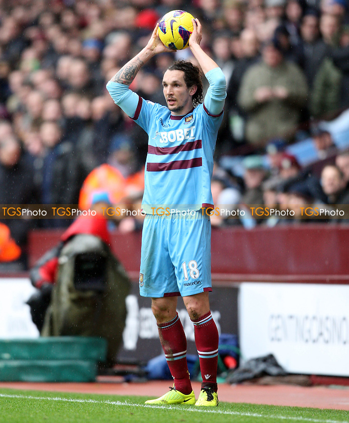 Emanuel Pogatetz of West Ham - Aston Villa vs West Ham United, Barclays Premier League at Villa Park - 10/02/13 - MANDATORY CREDIT: Rob Newell/TGSPHOTO - Self billing applies where appropriate - 0845 094 6026 - contact@tgsphoto.co.uk - NO UNPAID USE.
