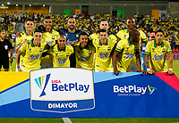BUCARAMANGA-COLOMBIA, 07-03-2020: Jugadores de Atletico Bucaramanga posan para una foto antes de partido entre Atletico Bucaramanga y Atletico Junior, de la fecha 8 por la Liga BetPlay DIMAYOR I 2020, jugado en el estadio Alfonso Lopez de la ciudad de Bucaramanga. / Players of Atletico Bucaramanga pose for a photo prior a match between Atletico Bucaramanga and Atletico Junior, of the 8th date for the BetPlay DIMAYOR I Legauje 2020 at the Alfonso Lopez stadium in Bucaramanga city. / Photo: VizzorImage / Jaime Moreno / Cont.