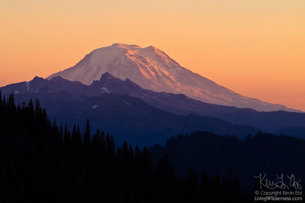 Mount Adams at Sunset from Chinook Pass, Washington | Living