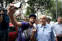 SAO PAULO, SP, 14/09/2012 - POLITICA CAMPANHA SERRA - Nesta sexta-feira (14), o candidato do PSDB à Prefeitura de São Paulo, José Serra, visitou as obras da Praça Franklin Roosevelt, no centro de Sao Paulo na capital paulista. FOTO VAGNER CAMPOS / BRAZIL PHOTO PRESS