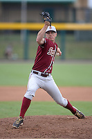 Florida State Seminoles pitcher Billy Strode (5) during a game against the South Florida Bulls on March 5, 2014 at Red McEwen Field in Tampa, Florida.  Florida State defeated South Florida 4-1.  (Mike Janes/Four Seam Images)
