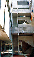 Louis I. Kahn: Salk Institute, La Jolla. Elevation--north wing. Brutalist style. Photo 2004.
