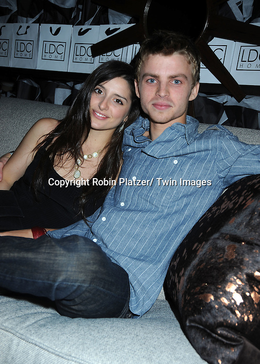 Drew Garrett and Genna Morni at the Sway Gift Suite at Hilton in Las Vegas on June 26, 2010..