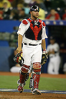 March 7, 2009:  Catcher Brian McCann (16) of Team USA during the first round of the World Baseball Classic at the Rogers Centre in Toronto, Ontario, Canada.  Team USA defeated Canada 6-5 in both teams opening game of the tournament.  Photo by:  Mike Janes/Four Seam Images