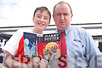 BOOK: Gary Sheehy of Manor Village, Tralee, who was the first to buy the Harry Potter book, Harry Potter and the Deathly Hallows in Tesco, Manor West Retail Park, at midnight on Friday, pictured with Aidan Brosnan (Non Food Manager Tesco)..