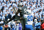 September 10, 2016 - Colorado Springs, Colorado, U.S. - Georgia State safety, Bryan Williams #20, brings down Falcon wide receiver, Jalen Robinette #9, during the NCAA Football game between the Georgia State Panthers and the Air Force Academy Falcons at Falcon Stadium, U.S. Air Force Academy, Colorado Springs, Colorado.  Air Force defeats Georgia State 48-14.
