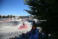 ASA New Zealand Scooter Nationals. Washington Reserve Skate park, Christchurch, Saturday 20 January 2018. Photo: Simon Watts/BWmedia